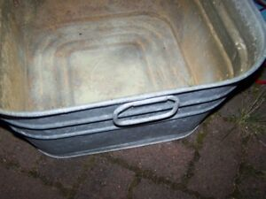 Galvanized Square GSW Laundry Tub Great for An Out Door Planter