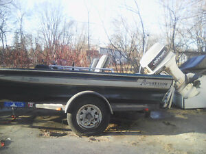 60 HP bass boat with trailer