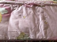 6 piece crib bedding sheet (pink) for sale