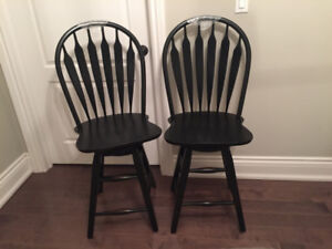 Two counter height swiveling Bar Stools - New