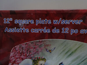 """12"""" square plate and server (photo of an Angel)  NEW Cornwall Ontario image 2"""