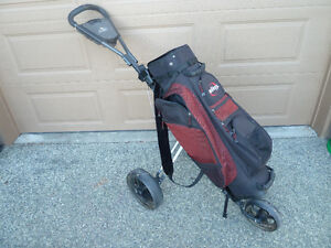Collapsible 3 Wheel Golf Cart and Bag