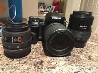 Pentax k5 mint condition with three lenses