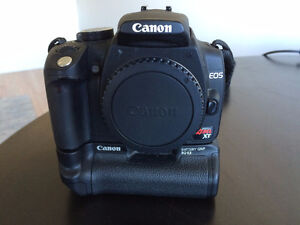 Canon Rebel XT DSLR Complete with Lens, Battery Grip, and Box