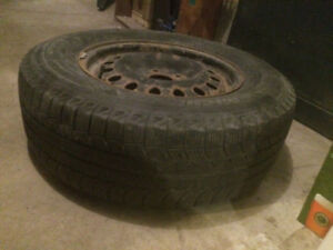 245/70/17 new summer tires + wheels, fits 17 inches mags had it
