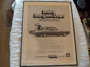 OLD BUICK  CLASSIC CAR FRAMED AD Windsor Region Ontario image 3