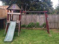 Children's garden play frame