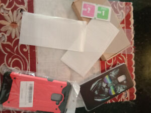 Mobile covers and screen guard got Samsung A8 plus