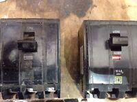 Disjoncteurs SQ D 50&60A 3 poles