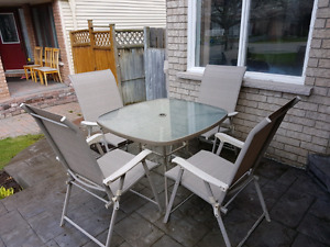 Outdoor table with chairs