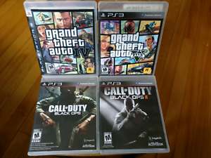 GTA IV & V and Black Ops 1 & 2 for PS3