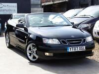 SAAB 9-3 VECTOR 2.0T CONVERTIBLE 150 bhp Black Low Mileage 2007 (07)