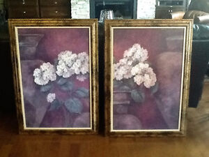 Etched oil 2 panel painting (reproduction)