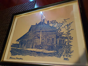 2 Vintage Pictures by Richard Brown (pencil art)
