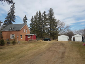 Brick Two-Storey on Almost 2 Acres at Sidney, MB