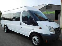ONLY 35,604 miles from new. Ford Transit 17 seat minibus with ONE owner from new