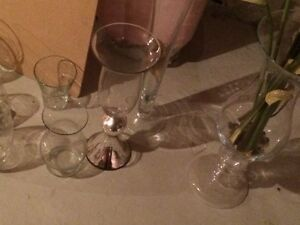 Glass Vases. See pictures for items to pick from