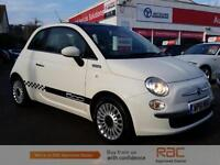FIAT 500 LOUNGE, White, Manual, Petrol, 2012