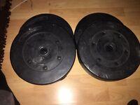 X4 15 LBS black plastic weights