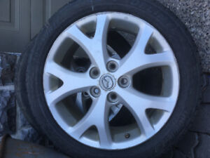 Mazda 3 - set of tire rims and tires