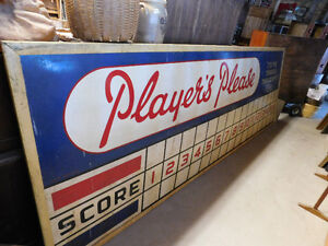 Antique 1950's Players Tobacco Baseball Field Scoreboard sign