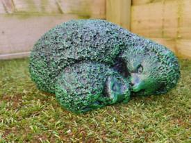 Hedgehog and Hoglett Garden Ornament