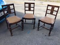 X3 antique chairs