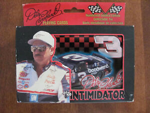 DALE EARNHARDT # 3 PLAYING CARDS