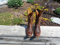ARIAT BROW COWBOY BOOTS SQUARE TOE
