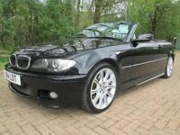 03/53 BMW 320 2.2 CI SPORT CONVERTIBLE IN MET BLACK WITH SERVICE HISTORY