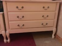 2 bedside drawers and 2 chests of drawers (will separate).
