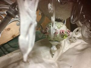 Porcelain chandelier 8 arm antique Kitchener / Waterloo Kitchener Area image 5