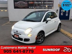 2012 Fiat 500 Sport  AUTO AIR ROOF ALLOYS POWER GROUP