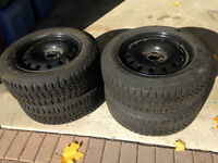 5 x 100 Firestone Winter Tires and Rims 195/65R15