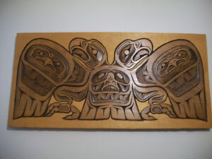 Native wood carving- Eagle clan