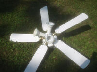 40 in. White Ceiling Fan with 3 lights
