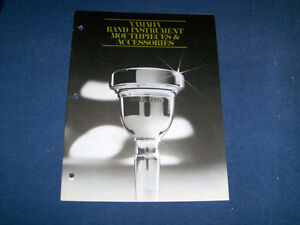 YAMAHA BAND INSTRUMENT MOUTHPIECES CATALOG-1970'S-VINTAGE