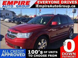 2010 DODGE JOURNEY R/T * AWD * LEATHER * NAV * REAR CAM * SUNROO