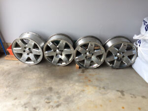 17 inch x7 aluminum rims from Jeep