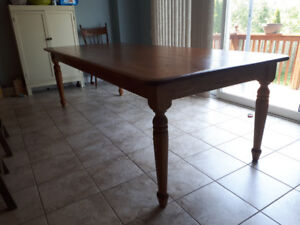 8 foot Oak Harvest Table
