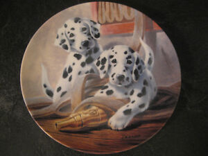 "KNOWLES ""WE'VE BEEN SPOTTED"" by LYNN KAATE COLLECTOR'S PLATE"