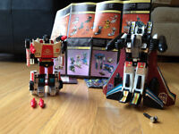 Transformers G1 1984 - Red Alert and Ramjet 100% complete