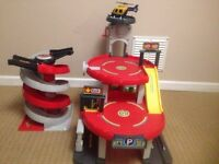 ELC. Car garage & spiral ramp.