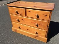 Solid pine chest of drawers with possible delivery