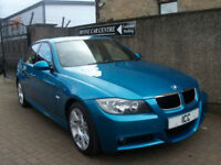 06 56 BMW 318I M-SPORT INDIVIDUAL EDITION 4DR SCARCE ATLANTIS BLUE FULL LEATHER