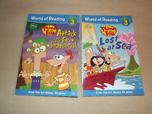 Phineas & Ferb - 2 books - excellent condition