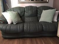 1 three seated sofa and 2 one seaters