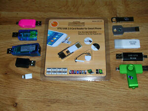 BRAND NEW COMPUTER/PHONE ADAPTERS & FLASH DRIVES