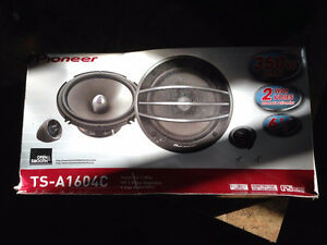 """Pioneer TS-A1604C 6 1/2 6.5"""" component speakers"""