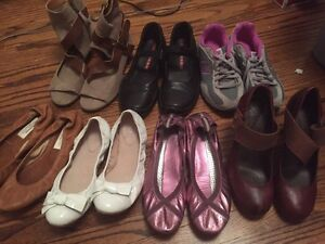 Size 6 shoes all gently worn